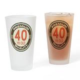 40 birthday men Pint Glasses