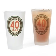 40th Birthday Vintage Drinking Glass