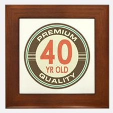 40th Birthday Vintage Framed Tile