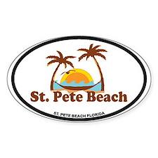 St. Pete Beach - Palm Trees Design. Decal
