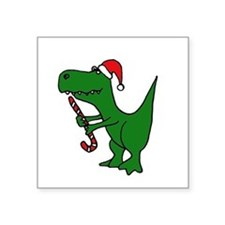 T-rex Dinosaur in Santa Hat Sticker