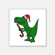 T-rex Dinosaur in Santa Hat Sticker