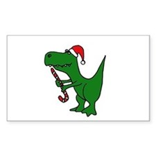 T-rex Dinosaur in Santa Hat Decal