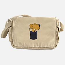 Pupy in a Pocket Messenger Bag