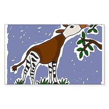 Artistic Okapi Design Stickers