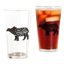 Funny Tapir Drinking Glass