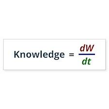 Knowledge is power Bumper Bumper Sticker