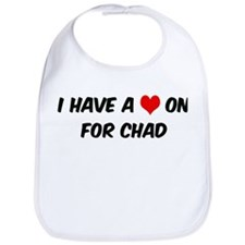 Heart on for Chad Bib