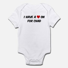 Heart on for Chad Infant Bodysuit