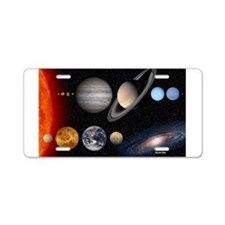 Cute Mars Aluminum License Plate