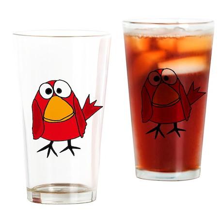 Funky Cardinal Redbird Drinking Glass