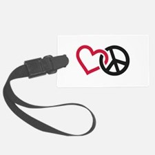 Cute Love peace happiness Luggage Tag