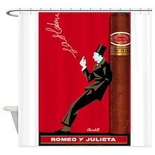 Cigar, Vintage Poster Shower Curtain