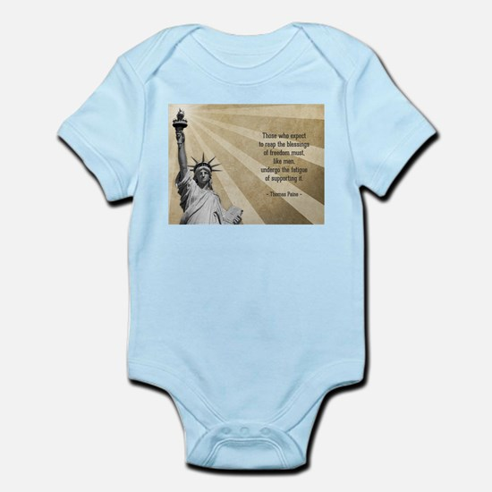 Thomas Paine Quote Body Suit