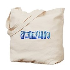 Swim life in bold letters Tote Bag