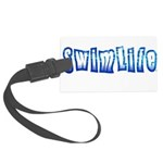 Swim life in bold letters Luggage Tag