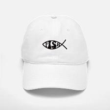 Jesus Fish Spoof Baseball Baseball Cap