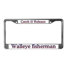 Walleye fishing License Plate Frame