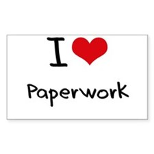 I Love Paperwork Decal