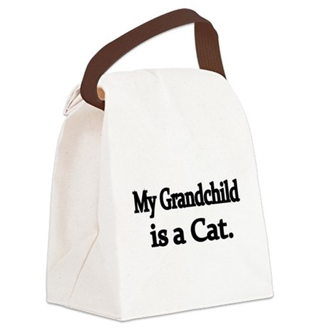 My Grandchild is a Cat Canvas Lunch Bag