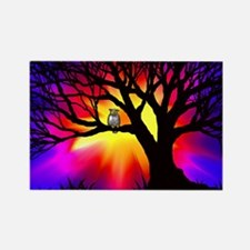 owl in tree Rectangle Magnet