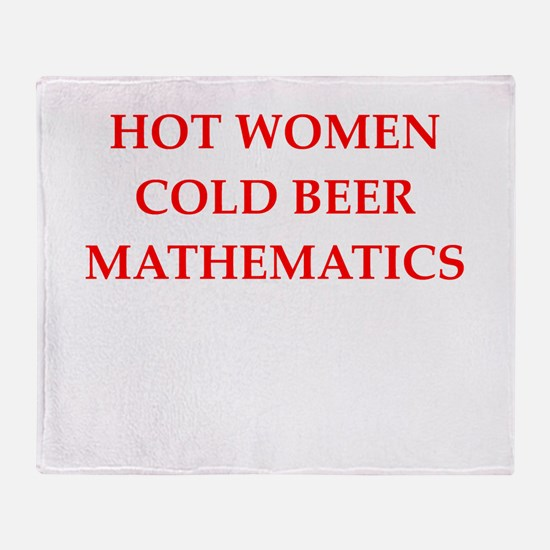 mathematics Throw Blanket