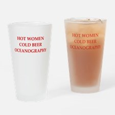 oceanography Drinking Glass
