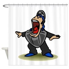 Safe big mouth Umpire Shower Curtain