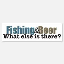 Fishing & Beer Bumper Bumper Bumper Sticker