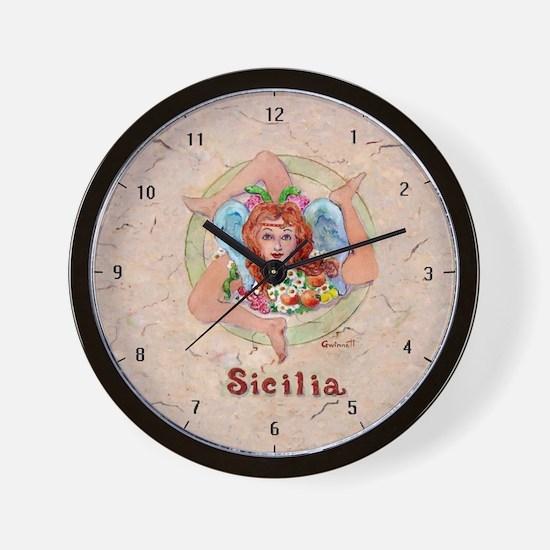 THe Trinacria Wall Clock