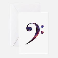 Bass clef nebula 1 Greeting Cards (Pk of 10)