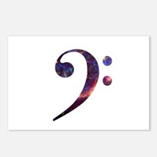 Bass clef nebula 1 Postcards (Package of 8)