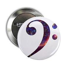 """Bass clef nebula 1 2.25"""" Button (10 pack)"""