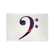 Bass clef nebula 1 Rectangle Magnet