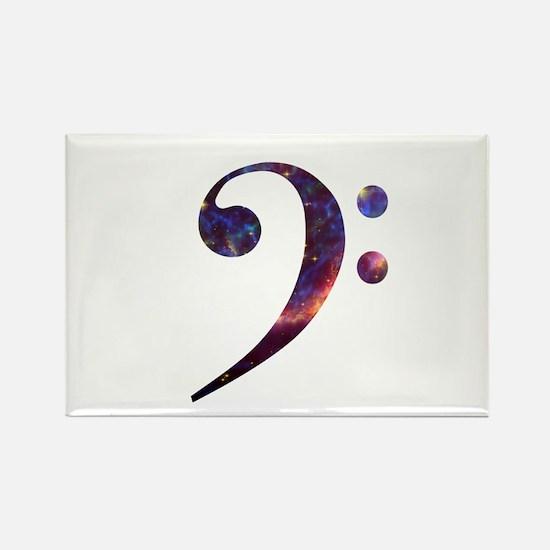 Bass clef nebula 1 Rectangle Magnet