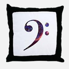 Bass clef nebula 1 Throw Pillow