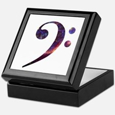 Bass clef nebula 1 Keepsake Box