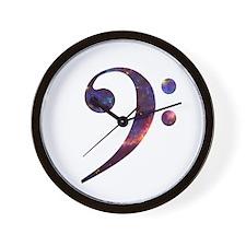 Bass clef nebula 1 Wall Clock