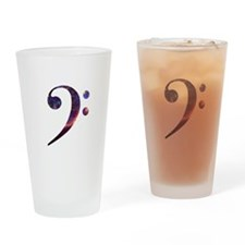 Bass clef nebula 1 Drinking Glass