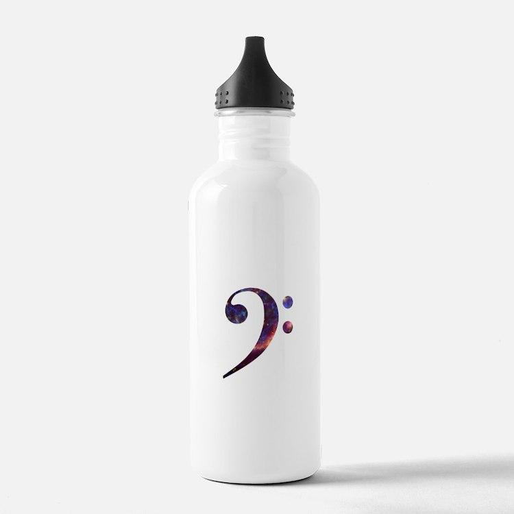 Bass clef nebula 1 Water Bottle