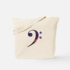 Bass clef nebula 1 Tote Bag