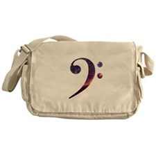 Bass clef nebula 1 Messenger Bag