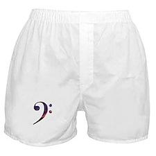 Bass clef nebula 1 Boxer Shorts