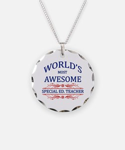 World's Most Awesome Special Ed. Teacher Necklace