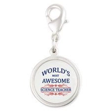 World's Most Awesome Science Teacher Silver Round