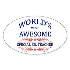 World's Most Awesome Special Ed. Teacher Decal