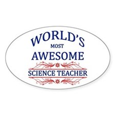 World's Most Awesome Science Teacher Decal