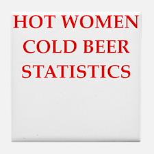 statistic Tile Coaster