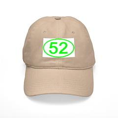 Number 52 Oval Baseball Cap