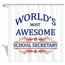 World's Most Awesome School Secretary Shower Curta